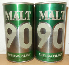 2 MALT 90 Straight Steel Beer cans from BRAZIL (350ml) empty !!