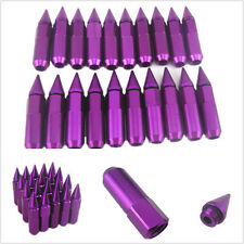 20 X Purple Aluminum Mounted M12X1.5 Spiked Car Wheel/Rim Lug Nut Extended Tuner