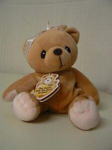 "Cherished Teddies The Teddie With The Heart of Gold Karen Plush 6"" H"