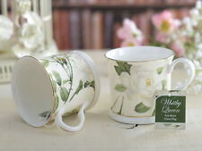 Set of 2 WHITBY QUEEN Bone China PALACE MUGS w Gold Rim CREATIVE TOPS