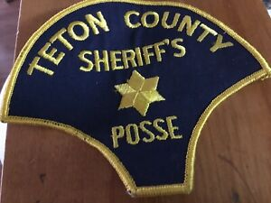 Vintage Teton County Montana Sheriff's Posse Patch