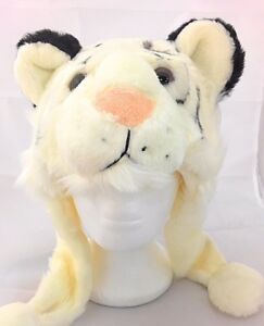 New Cute Tiger Plush Faux Fur Animal Hats Warm Kids Gift Christmas Winter Hat