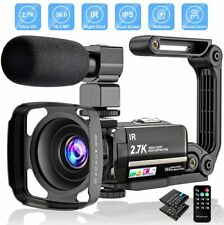 2.7K Video Camera 36MP UHD IR Night Vision Digital Camcorder 16X Digital Zoom