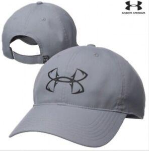 UNDER ARMOUR UA Fishing Hooks Tiger Woods PGA Golf UA Free Fit Gray Hat Cap