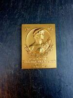 herrliche alte VMBV Messing Medaille Zehnkampf Meisterschaft 1921 Sammlerstück