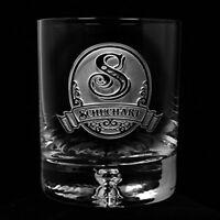 Lead Free Crystal Whiskey, Scotch, Bourbon Rocks Glasses Engraved SET OF 4 (M8)