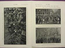 1900 VICTORIAN BOER WAR PRINT ~ PICCADILLY CIRCUS MAFEKING NIGHT ~ MARLBOROUGH