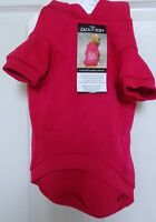 NWT Zack and  Zoey Dog Red Hooded Sweater Coat Skull & Crosbones studded back M