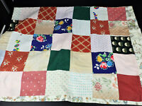 Patchwork Lightweight Quilt Squares Blanket Throw 63x82 Full Size Cover Country