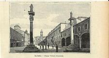 Stampa antica RAVENNA Piazza Vittorio Emanuele Romagna 1905 Old antique print