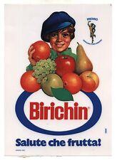 Adesivo vetrina 17x24 BIRICHIN Salute che frutta sticker PROMO Pubblicità