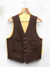Wool Patternless Casual Waistcoats for Men
