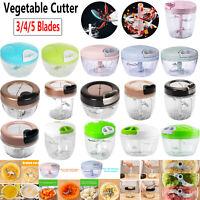 Manual Food Chopper Spiral Slicer Shredder Onion Garlic Fruit Vegetable Cutter
