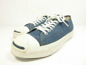 90S Vintage Converse Convers Jack Purcell Blue Beard Sneaker Mens Size10 Navy