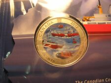 CANADA 2012 50TH ANNIVERSARY CANADIAN COAST GUARD COLOURED 25 CENT MINT SET