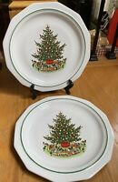 "Pfaltzgraff CHRISTMAS HERITAGE 10 1/4"" Dinner Plates Set of 2"