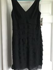 NWT Jones Of New York Sleeveless Black Tiered Party Cocktail Dress size 12