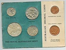 Australia 1966 The Royal Australian Mint Set Cardboard Penny Some Red
