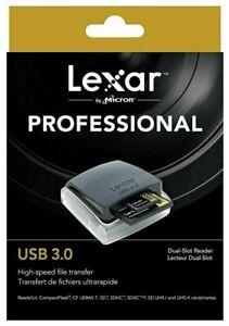 Lexar Professional USB 3.0 Dual-Slot Memory Card Reader - CF,SDXC/SDHC UHS-II,SD