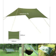 Outdoor Camping Waterproof Rain Tarp Tent Canopy Shelter Cover Sunshade 10x10FT