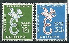 ALEMANIA Sarre Saarland EUROPA cept 1958 Sin Fijasellos MNH