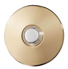 "NuTone PB41BGL Polished Brass Round Stucco Pushbutton 2 1/2"""