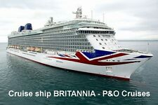 SOUVENIR FRIDGE MAGNET of CRUISE SHIP BRITANNIA -  P&O CRUISES