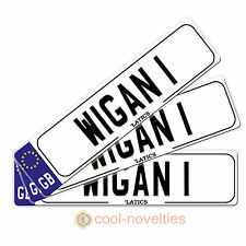 "MINI NOVELTY NUMBER PLATE / BOOKMARK GIFT "" WIGAN 1 """