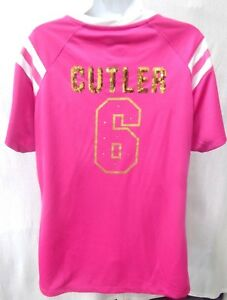 Chicago Bears Football Ladies Draft Me Jay Cutler #6 Jersey Shirt Pink