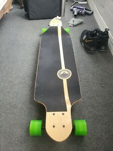 Yocaher Drop Through Blank Longboard Complete - Stained Blue
