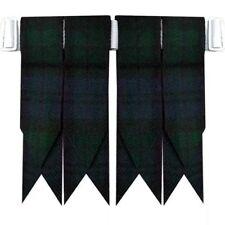 Cc Montre Noir Écossais Kilt Accesoire avec Lourd Boucle/Flashes de Chaussettes