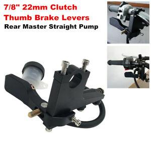 "7/8"" Motorcycle Clutch Thumb Brake Lever Rear Master Pump Cylinder Handle Set"