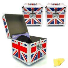 "Gorilla LP100 12"" LP Vinyl Record Box DJ Storage Carry Case Union Jack x3"