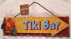 "TIKI BAR Advertising SIGN MAN CAVE REC ROOM 3D Corrugated Metal 17"" NWT"
