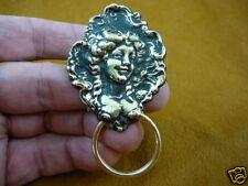 (#E-399) VICTORIAN Lady Eyeglass pin pendant ID badge holder WOW