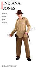 New popular Mens Indiana Jones costume - One Size Fits Most-AU