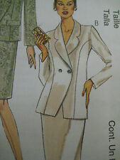 McCalls 2595 Women DOUBLE BREASTED JACKET FITTED Sewing Pattern Sz 12-16 UNCUT