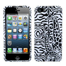Apple iPhone 5 5S SE HARD Protector Case Snap On Phone Cover Black Gir