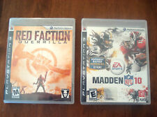 2 PLAYSTATION 3 PS3 GAMES MADDEN '10 & RED FRACTION NEW