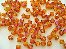 24 Astral Pink Swarovski Crystals Beads Bicone 5328 4mm