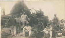 France, Agriculteurs en pause, ca.1913, vintage silver print on carte postale pa