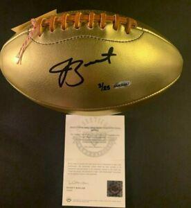 JAMEIS WINSTON Autographed Leather Head Golden Football UDA Bucs/Saints 3/25