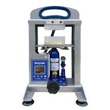 "Dulytek Dhp5 Hydraulic Heat Press, 5 Ton Force, Dual Heat 3"" x 4"" Plates"
