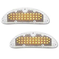 55 Chevy Car Clear Park Turn Signal Light LED Amber Bulb Lens Chevrolet Pair