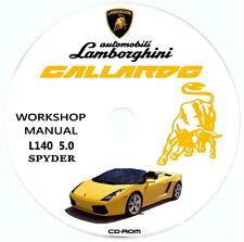 Manuale Officina,Lamborghini GALLARDO SPYDER,L140 5.0L