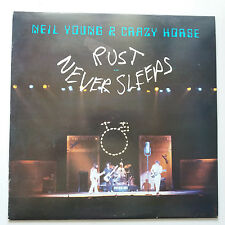 Neil Young-herrumbre nunca duerme Vinilo Lp + UK Interior 1st Press ex +/ex +