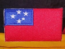 Samoa Flag Embroidered Patch Iron-on Good Luck Magic Charm