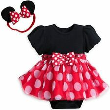 NEW Disney Store Baby Minnie Mouse Costume Dress Bodysuit & Ears 9-12M NWT