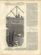 1877 Pulsómetro que se utiliza en Normanton cantera, grabado