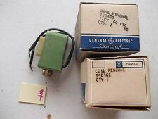 LOT OF 2 COILS NEW IN BOX GE GENERAL ELECTRIC 15D3G1 RENEWAL COIL (119)